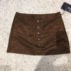 NWT- Boom Boom Mini Suede Skirt